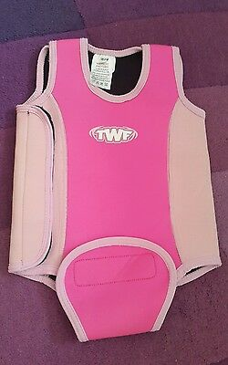 Pink wetsuit 18-24 mths