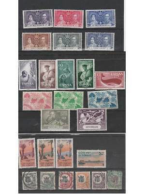 Stamps Colonial Africa old mixed lot very good