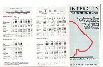 Intercity London To South Wales Timetable 1987