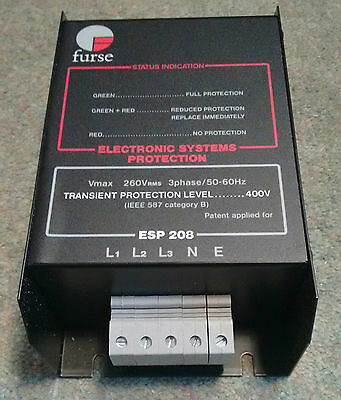 Furse ESP208P 3 Phase Mains Transient Protector (wire across supply)