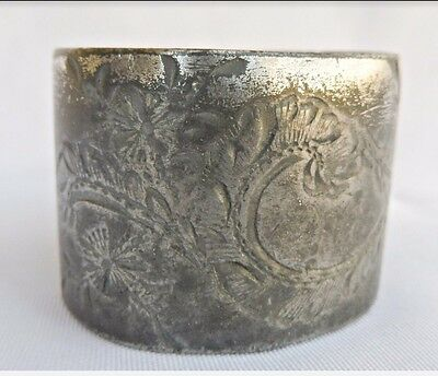 OLD Vintage silver-plate napkin ring UNIQUE