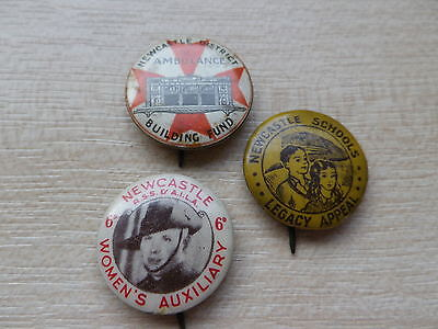 3 Australian Newcastle Charity Pin Badges