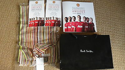 Manchester United Rare Vip Paul Smith Scarf From Player Of The Year Awards 2012