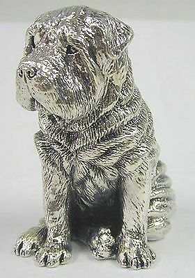 Silver Shar-pei Dog figurine Miniature  Collectible