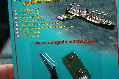 Triang Minic Ships Harbour item Floating Crane P696