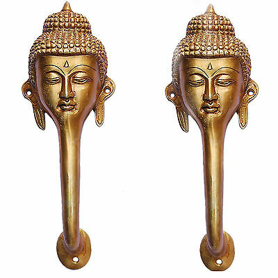 Brass Door Handle of Gautam Buddha By Aakrati