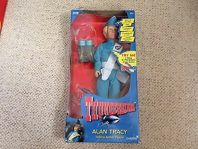 Thunderbirds Action Figure Alan Tracy in Box - Vintage Toy Gerry Anderson 90's.