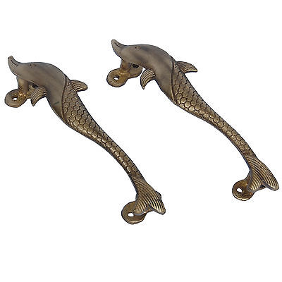 Dolphin Door Handle in Antique Finish By Aakrati