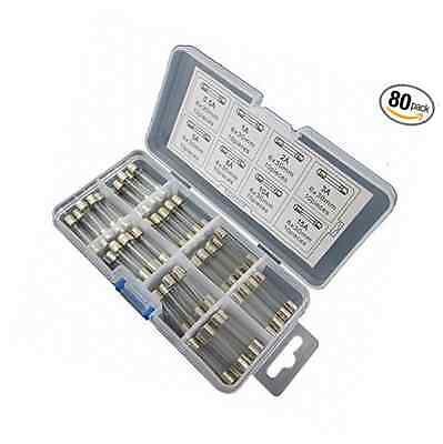 DIGITEN 6x30mm Quick Fast Blow Glass Assorted Fuse (pack of 80) by DIGITEN
