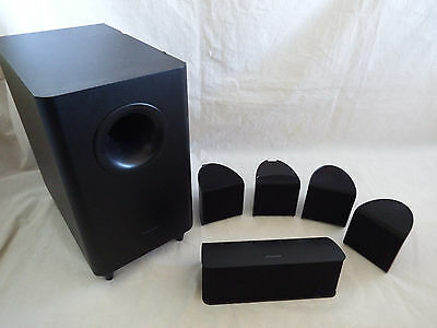 Pioneer Home Theater System Speakers - Sub Woofer 4 x front Speakers 1 x Centre
