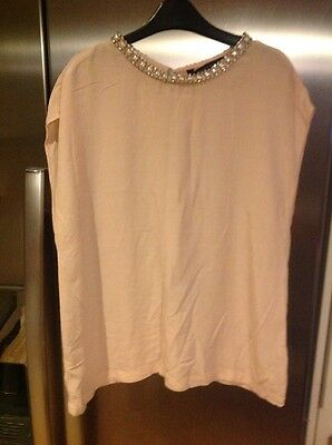 BNWOT ZARA NUDE TOP SIZE L  Stunning Must See !!