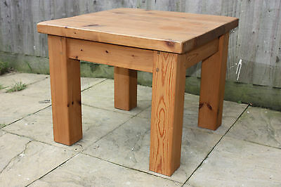 Small solid pine chunky coffee / side / end table