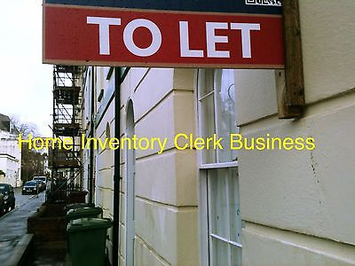Set Up As A Lettings Home Inventory Clerk Business Details For Sale...