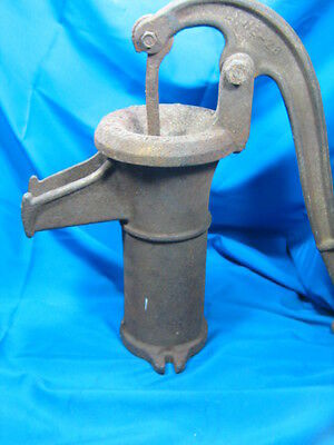 Vintage Peters Cast Iron Hand Crank Water Well Pump Garden Decor Ornamental
