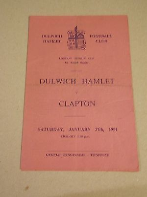 DULWICH HAMLET v CLAPTON  ISTMIAN LEAGUE GAME 1950-51