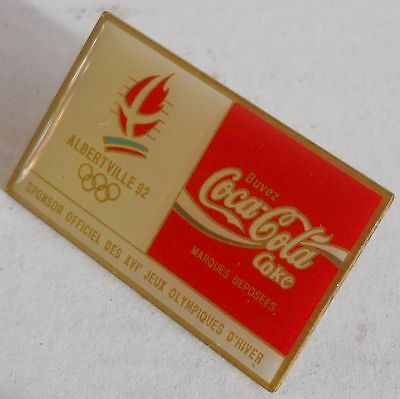 Pin's Coca Cola JO Jeux Olympiques Hiver Olympic Winter Games ALBERTVILLE 92