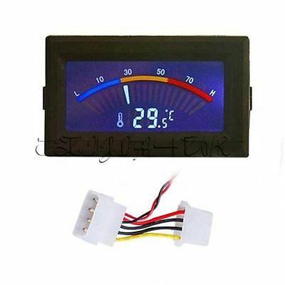 LCD Digital Thermometer Temperature C/F PC MOD Temp Range From -10C to 80C  UK