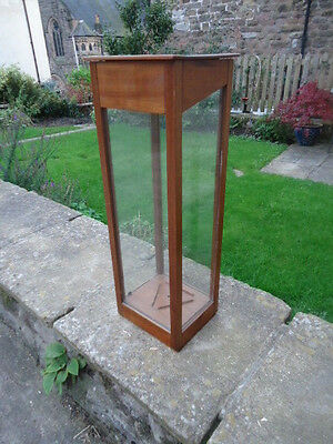 Mahogany and glass trophy display case in excellent condition