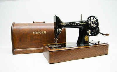 Fully Serviced SINGER 99K Heavy Duty HAND CRANK Sewing Machine BENTWOOD base