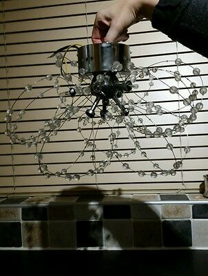 Contemporary Modern Silver Chrome Flush 6 Way Ceiling Light Fitting Chandelier