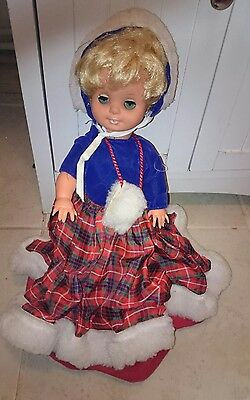 Vintage  Doll Dressed In Tartan
