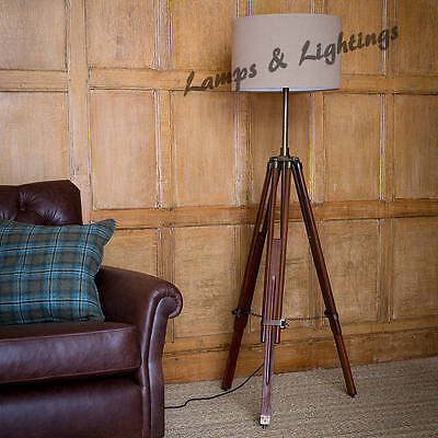 Industrial Style Antique Vintage Spot Light Floor Lamp Standing Tripod Lamp