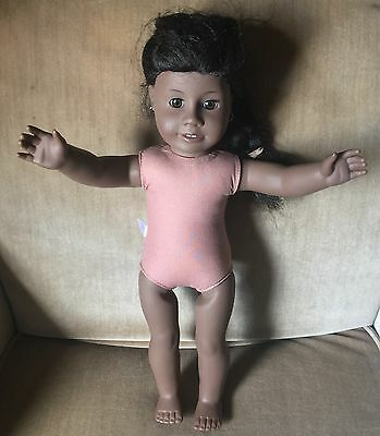 "American Girl Doll 18"" Historical Addy Walker Nude Retired With Earrings"