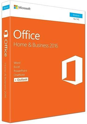Microsoft Office Home and Business 2016 1PC English T5D-02877 - NEW SEALED