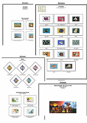 Print a Botswana Stamp Album Fully Annotated & Completely Colour Illustrated