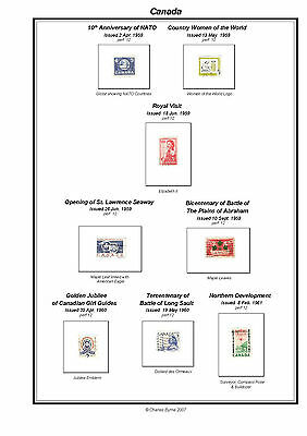 Print a Canada Stamp Album Fully Annotated & Completely Colour Illustrated