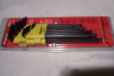 New Snap On Long Fractional Hex Wrench Set.