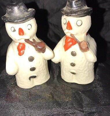 Fabulous Vintage Frosty The Snowman Salt And Pepper Shakers Japan