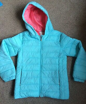 Lovely Aqua Puffer Jacket By Marks & Spencer Age 11-12 Ex Con