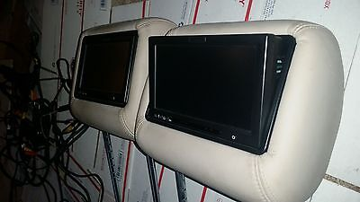 Vizualogic Mercedes Benz ML GL video screen DVD headrest system