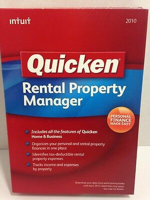 NEW Quicken Rental Property Manager 2010 Personal Finance & Budgeting Software