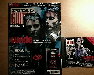 Total guitar magazine and CD 58 Suede