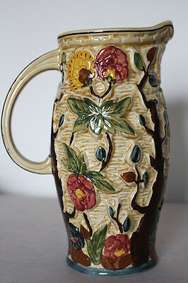 Indian Tree Hand Painted H..J. Wood Staffordshire Jug Excellent