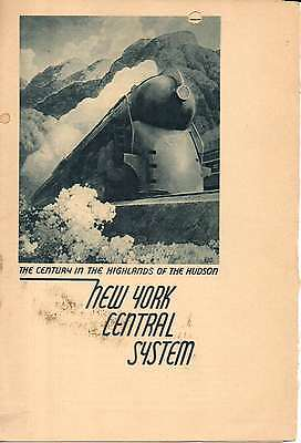 New York Central RR NYCRR Dining Car Menu The Pacemaker