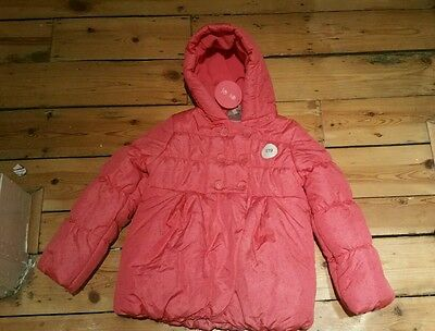 Girls bnwt pink Marks and Spencer Indigo Collection coat age 6-7 years