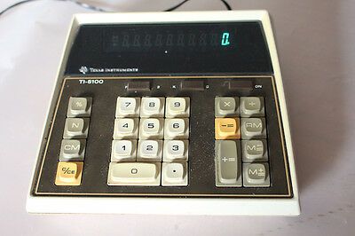 Genuine Vintage Texas TI5100 desk LED calculator working
