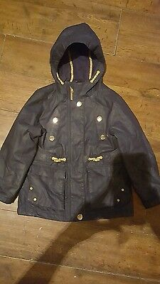 next girls navy blue coat age 6 years
