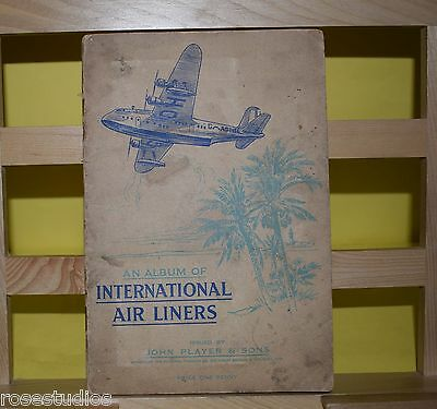 John Player Cigarette Cards Album International Airlines Fair Cond Complete