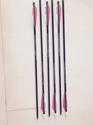 6 Brand New Complete Easton Gamegetter XX75 400 Arrows Archery
