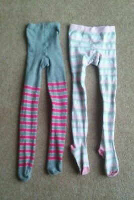 2 x girls tights 6/7/8/9 years