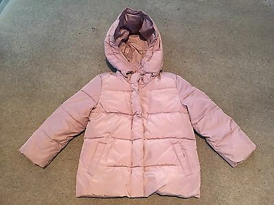 Baby Gap Girls Pink Puffa Jacket With Hood Age 5 Years