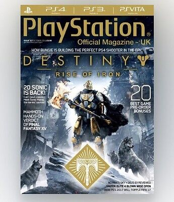 Play Station Official Magazine #127 - DESTINY RISE OF IRON (FREE GIFT!)