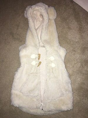 Lovely Next Fur Gillet 2-3 Years