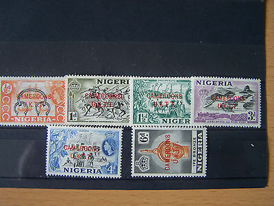 Cameroons. U.k.t.t.1953. 6 U/mint Stamps From Nigeria Overprinted.nice.