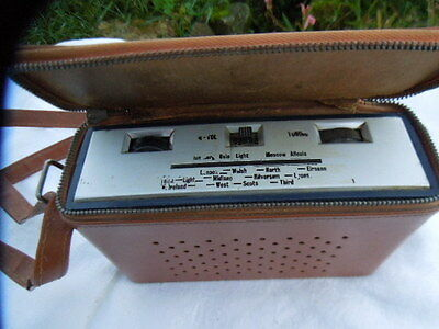 VINTAGE BUSH TR114 TRANSISTOR 7 RADIO WITH CASE - 1960s