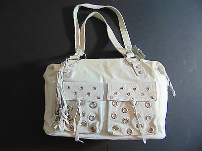 LAURA DI MAGGIO Light Grey Soft Leather Bag New with Tags